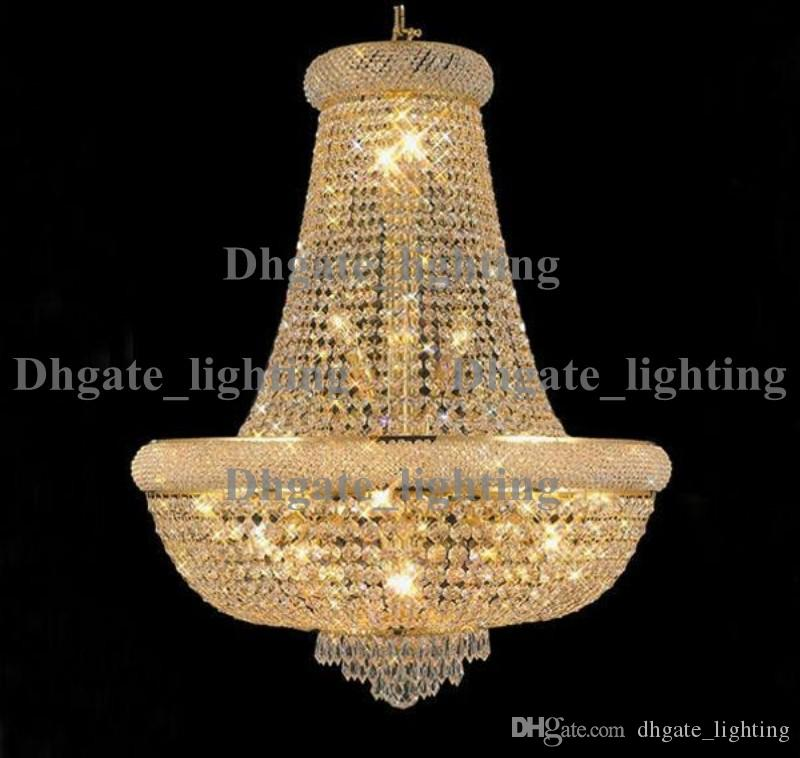 Gold Crystal Chandelier Light Fixture Modern Chrome Crystal ...