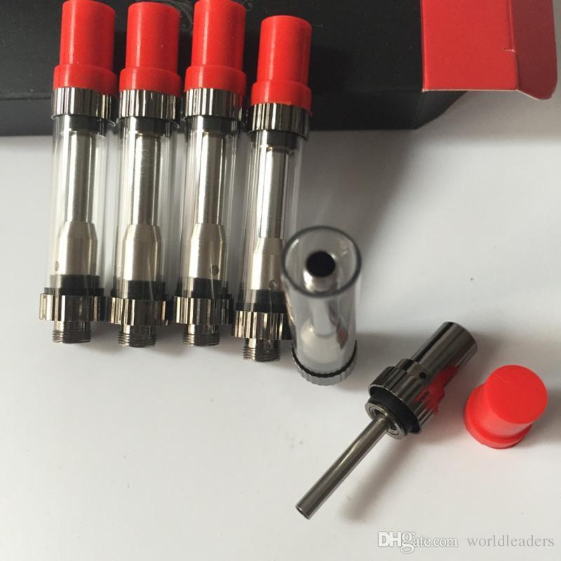 100 % 원작 AMIGO Liberty Vaporizer 0.5ml 1.0ml 누액 없음 Pyrex 유리 탱크 오일 원자로 Co2 Clearomizer