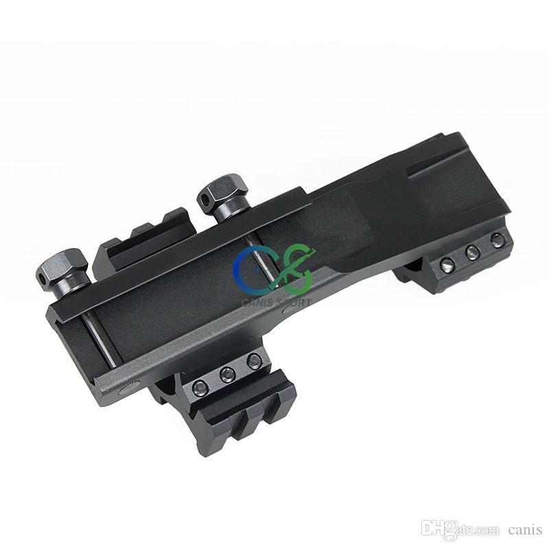 Nouveau Arrivée tactique Couleur Noir 25.4mm embasses Double Anneau cantilever Monter avec Rails CL22-0236
