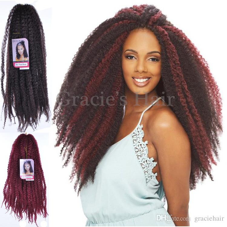 G Synthetic Hair Extensions Afro Kinky Hair Kinky Marley Twists Synthetic Braiding Hair Crochet Braids Afro Marley Kinky Braids From