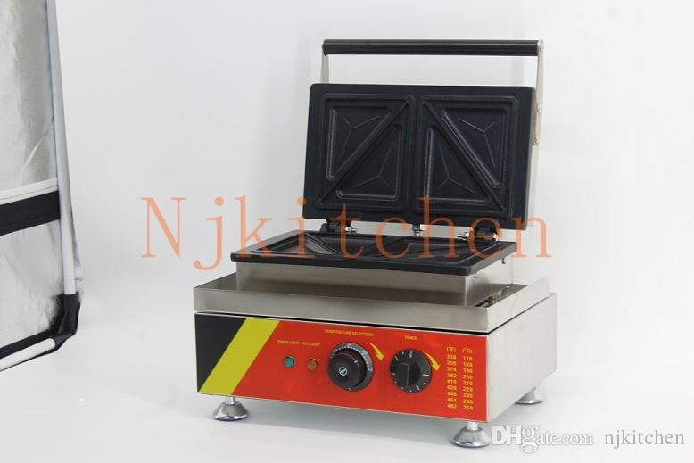 Commercial use 110v 220v Electric Sandwich Grill Toaster Press Maker Machine Baker Iron Mould equipment