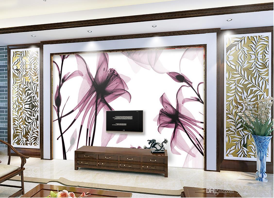 Modern Simple Abstract Flower Flower Tv Backdrop Wall Mural 3d Wallpaper 3d  Wall Papers For Tv Backdrop Wallpaper For Mobile Wallpaper For Pc From ...