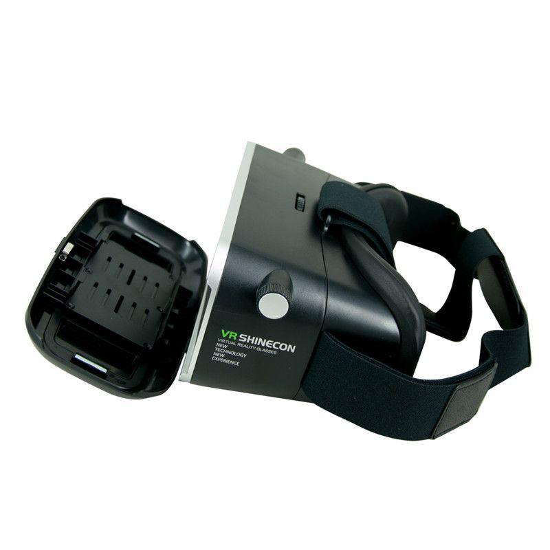 VR Shinecon VR Realtà Virtuale Occhiali 3D Real Casco Cardboard Mobile Cinema Cinema 3D iPhone Samsung 4.0 -6 pollici Smartphone