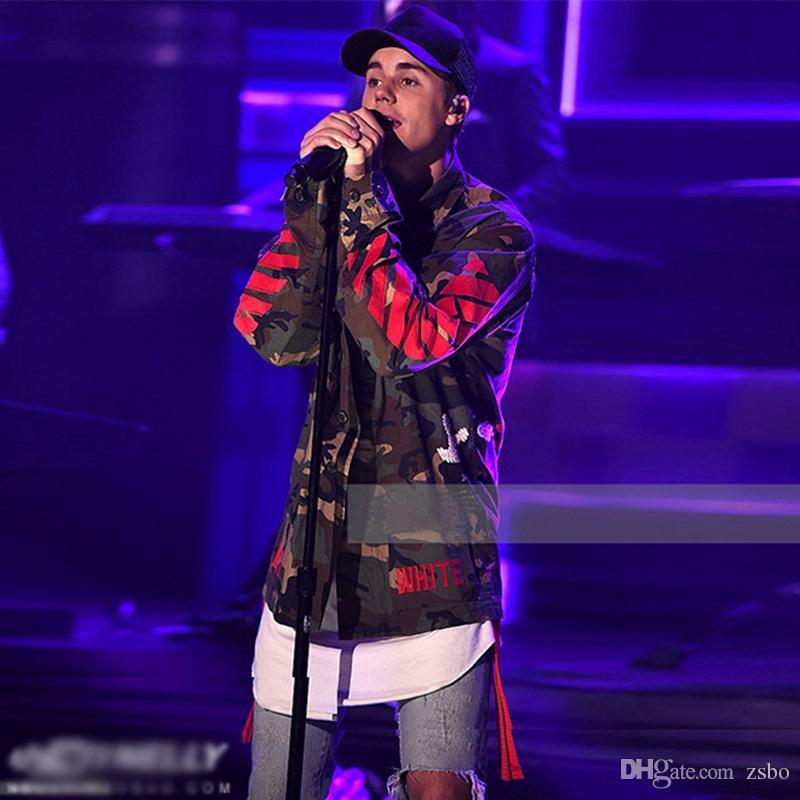 Mode-Männer erweitert Baumwoll-T-Shirt Longline Hip-Hop-T-Shirts Justin Bieber Swag Harajuku Rock Tshirt Homme Streetwear T-Shirt TX145 RF