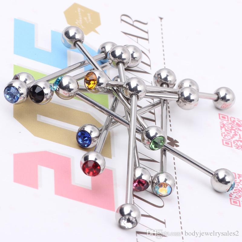 حلقة الأذن الصناعية T32 MIX 11 لونا / الفولاذ المقاوم للصدأ الكريستال ثقب المجوهرات حلقة الحديد الصناعية