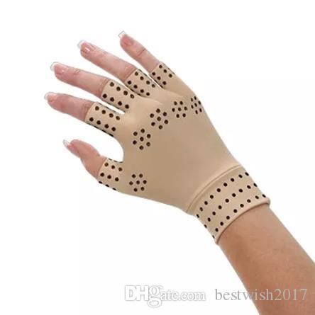 2017 Magnetic Therapy Fingerless Gloves Arthritis Pain Relief Heal Joints
