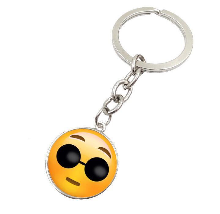 Mode Smiley Face porte-clés Emoji Emotion Porte-clés pour Garçons et Filles Cadeau de Noël Livraison gratuite