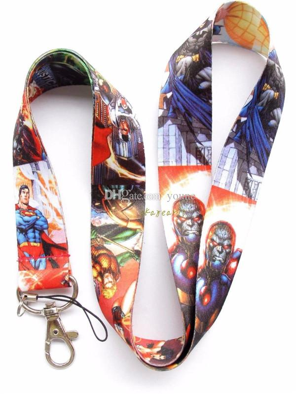 20pcs Batman Super Hero Justice League ID card holder, Key Phone Neck Strap Lanyard Classic Design