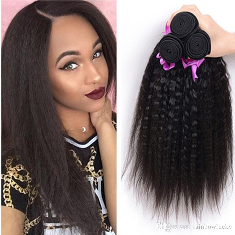 Reduction In Price For Black Women Kinky Straight Hair Weaves Yaki