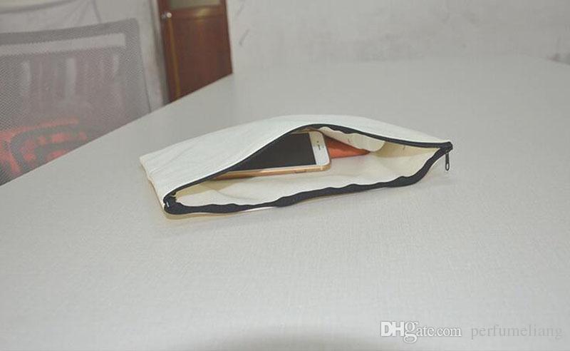 30*24cm Brief Canvas Storage Bag Women Men Cards Holder Passport ID Package Travel Organizer Makeup Case Zipper ZA3416