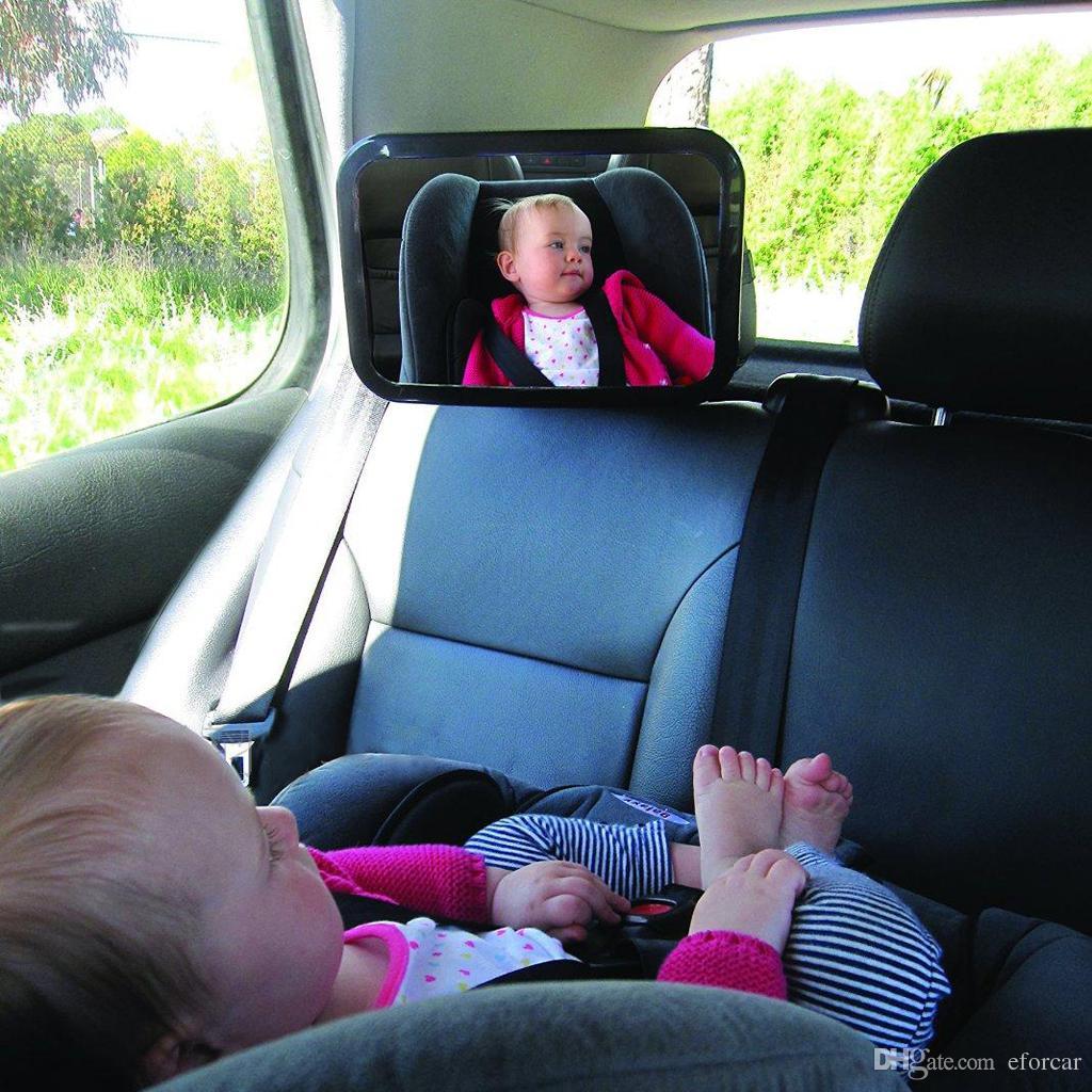 Asiento trasero ajustable para automóvil Asiento seguro para el bebé Espejo de seguridad del reposacabezas del respaldo con reposacabezas seguro Correa doble