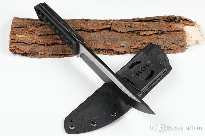 High End Cold Steel Überlebens-gerade Messer D2 Titanium Blade G10 Griff Outdoor Camping Jagd Reparierte Blattmesser