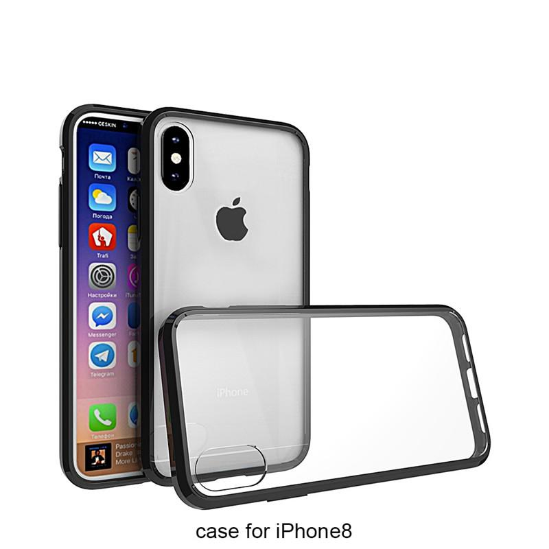 For iphone X 5.8 inch 8G 6 7 plus Se Hard Acrylic Back Cover Tpu Bumper Case Transparent Clear Crystal Shockproof Anti-scratch