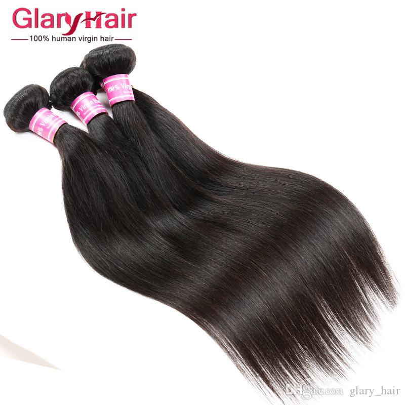 Real Human Hair Extensions 8a Mink Brazilian Virgin Hair Bundles Straight Weave Cheap Remy Peruvian Hair Weave Bundles