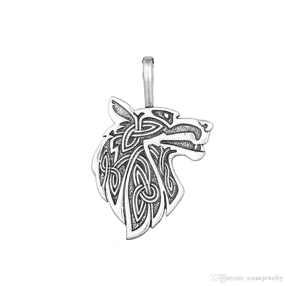 Lemegeton Hot Fashion Antique Silver Plated Odin's Steed Viking Steam punk Supernatural Animal Bracelet Pendant Jewelry