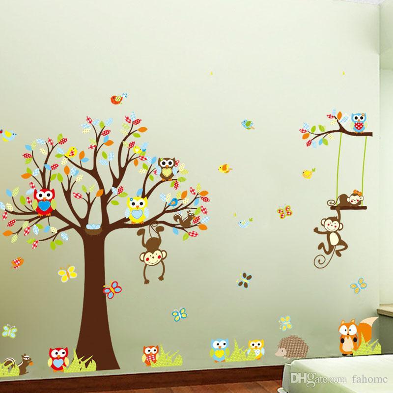 Affe Wandaufkleber Kinderzimmer Kinderzimmer Dekoration DIY Wandtattoo Baby  Zimmer Baum Tapete Kinderzimmer Kinderzimmer Dekoration