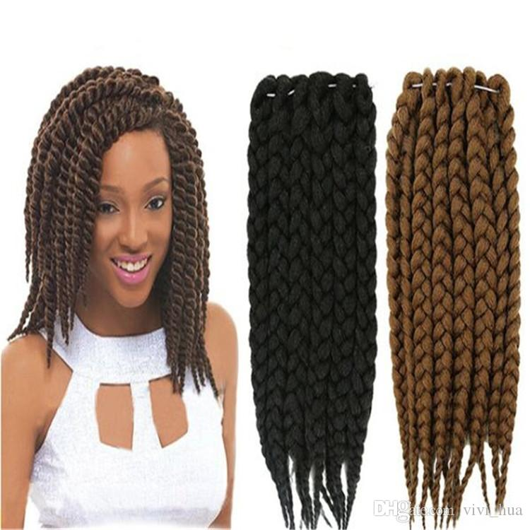 Cheveux Convient Pour Les Femmes Noires Tresses Havana Twist Synthétique Cheveux Tresses Perruque Tressée Longue Plein Kinky Twist Perruque
