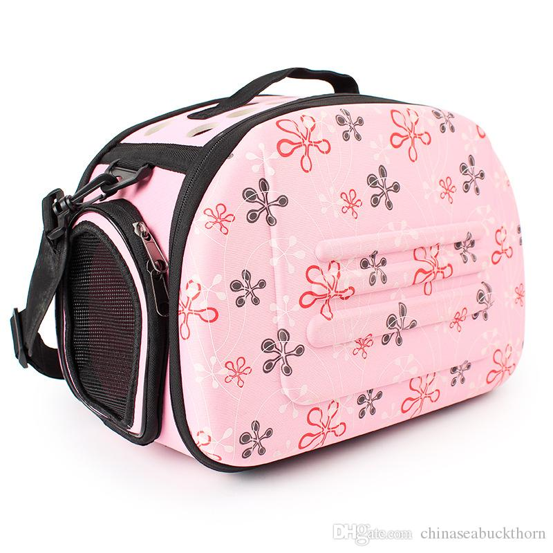 078231be5942 2019 Puppy Pet Travel Bag Dog Carrier Folding Breathable One Shoulder Out  Bags Portable Luggage Backpack Cat Pack Pet Zipper Carriers Bag Pink From  ...
