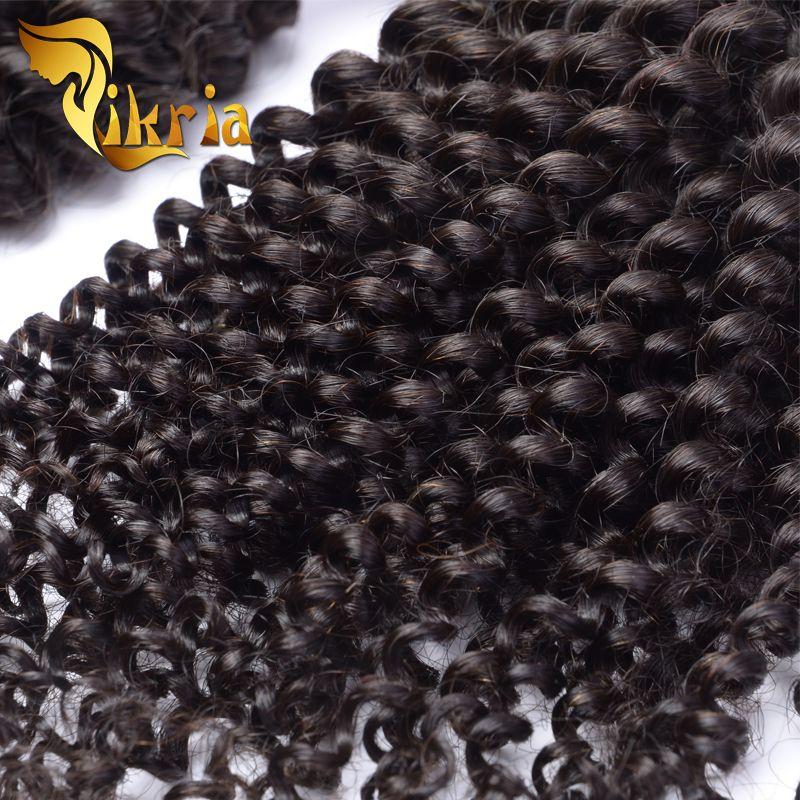 Mongolische verworrene lockige unverarbeitete brasilianische indische malaysische peruanische 4 Bündel Jungfrau-Menschenhaar-Großhandelsnasse und wellenförmige Haar-Webart-Bündel