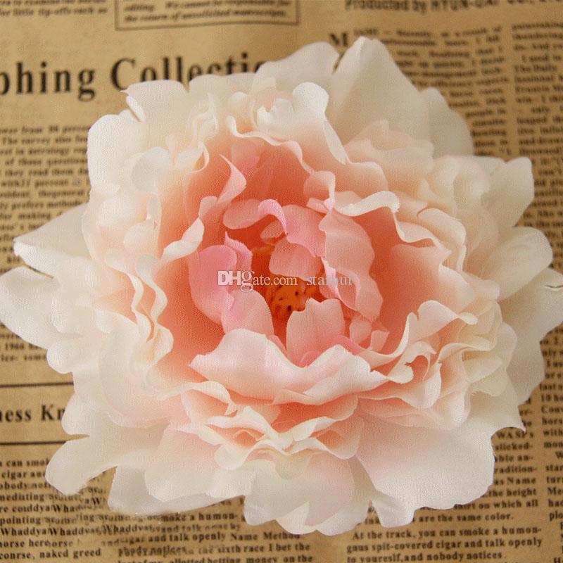 Nuevas Flores Artificiales de Seda Peonía Jefes de Flores de Boda Suministros de Decoración de Boda Simulación Cabeza de Flor Falsa Decoraciones Para El Hogar 12 cm WX-C09