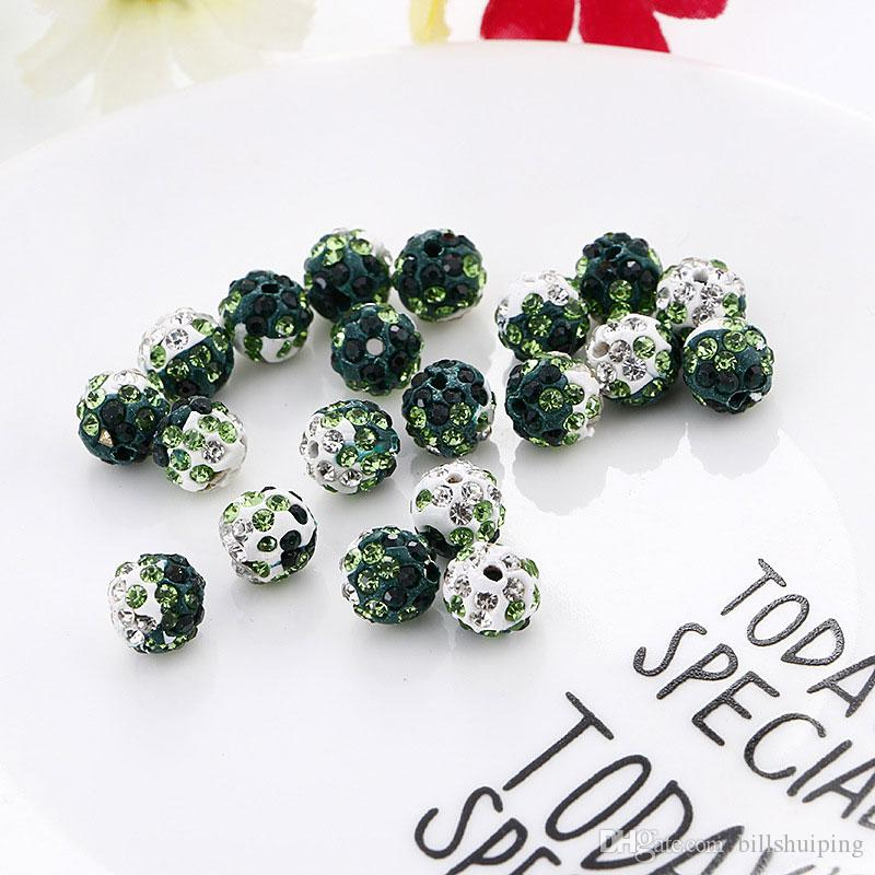 Wholesale 10mm New fashion polymer clay Ball Crystal Shambala Bead Bracelet Necklace Beads Bracelet DIY accessories