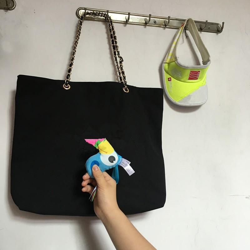 2017 NEW ~ regalo VIP shopping borsa di tela con catena di lusso modello borsa da viaggio delle donne borsa di lavaggio. Borsa da spiaggia di tela di moda custodia cosmetica