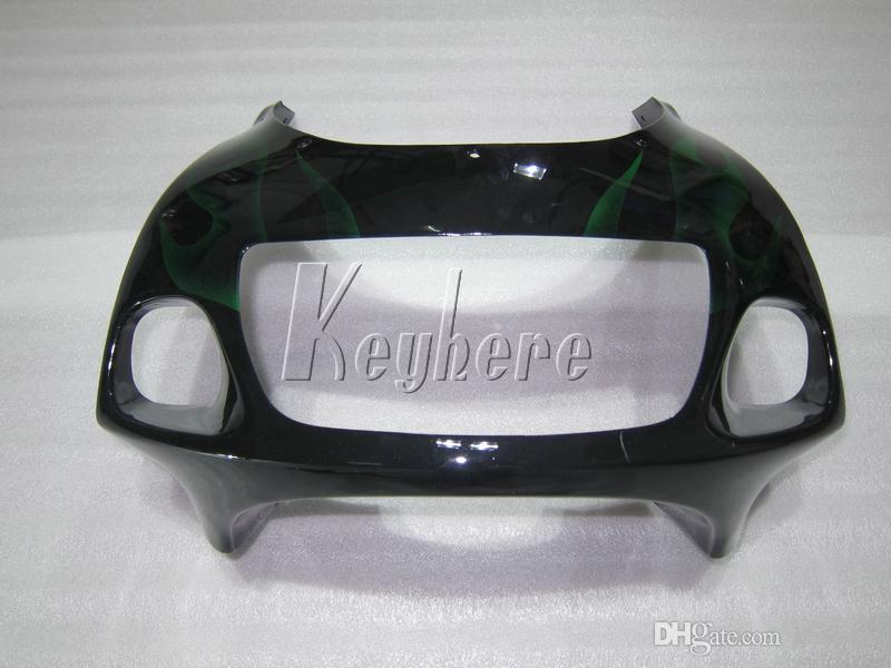 Kit de carénage de carrosserie de haute qualité pour Suzuki GSXR600 96 97 98 99 flammes noires carénage noir GSXR750 1996 1997 1998 1999 OI46