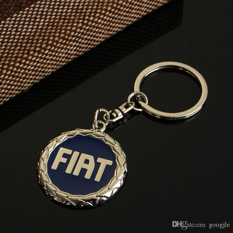 Fiat Car Logo Portachiavi Keychain Portachiavi auto Key Parts Car Emblem Styling Fiat Punto Bravo Palio Linea Freemont Stilo Grande