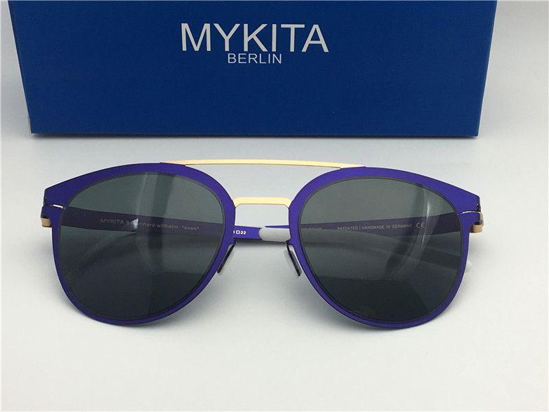 a48f086efd3c2 New mykita DASH óculos de sol para o quadro piloto homem com espelho  ultralight frame Memory Alloy óculos de sol oversized para as mulheres  design legal ao ...