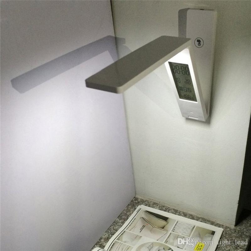 Moderno Simples Solar LEVOU Sala de Estudo Lâmpada de Mesa Recarregável USB proteção para Os Olhos Mesa de Luz Quarto dobrável Portátil candeeiro de Mesa