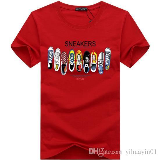 2017 Nuovo marchio di moda abbigliamento 3D stampa T-shirt O collo maniche corte in cotone uomini t-shirt uomo casual Tees Mens Top