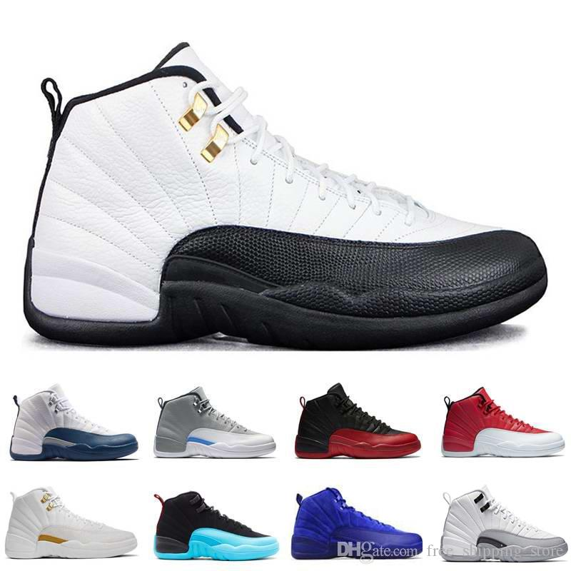 2018 Retro 12 12s Men Basketball Shoes Flu Game Gym Red White Black  Playoffs French Blue Wolf Grey Deep Royal Blue Sneakers Tennis Shoes Shoes  Sale From ...