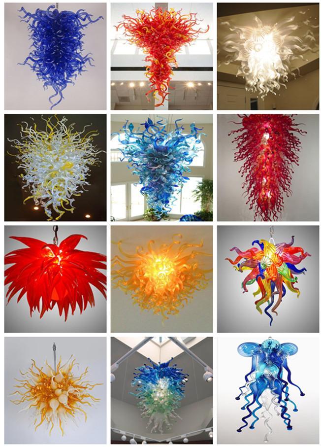 Cadeia de vidro China Fornecedor New Arrival preço barato soprado Lâmpadas Pingente Energy Saving vidro soprado Chandelier Iluminações