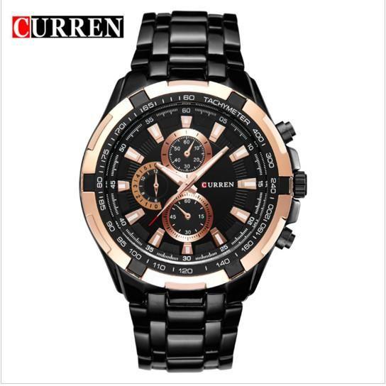 230319f7dc2 Compre Nova Marca De Luxo CURREN Relógio De Aço Completa Moda Casual  Assista Men Sport Relógios De Quartzo Militar Relógios De Pulso Relogio  Masculino De ...