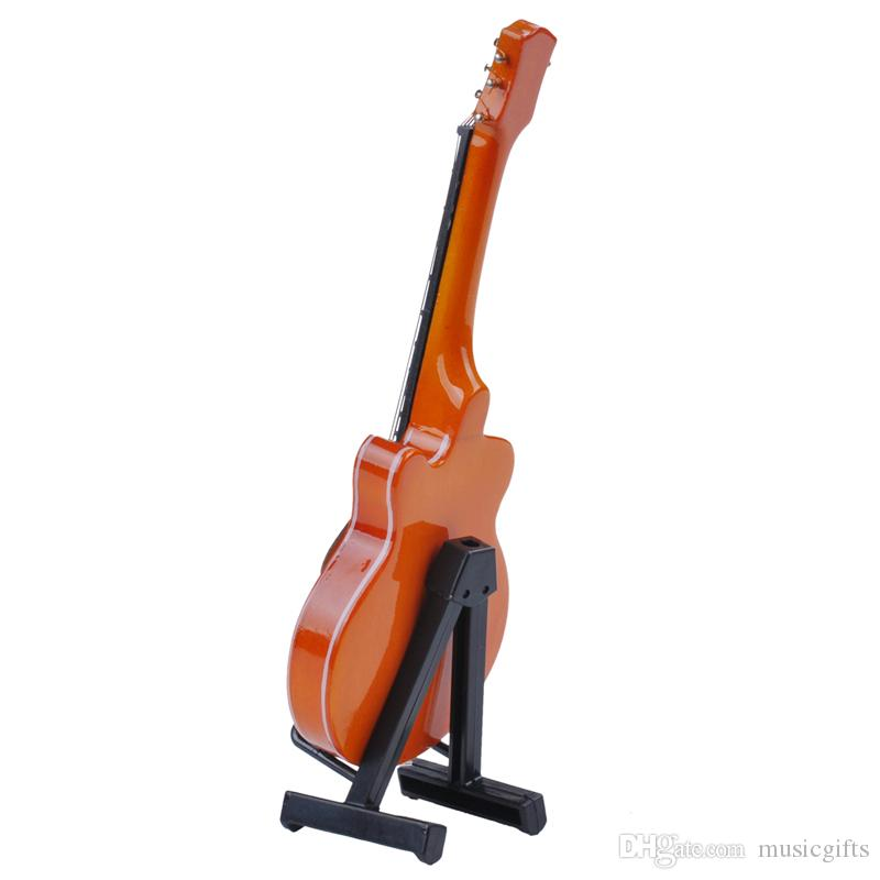 Creative Wooden Mini Instrument Electric Guitar Model Decoration Miniature Instrument Guitar Toys