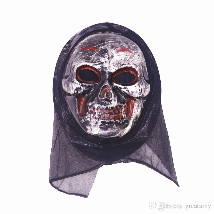 Wholesale Halloween mask Long Face Skull Ghost Scary Scream Mask Scary Horror Terrible Mask Screaming Witch Full Face