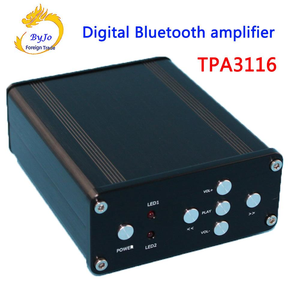 YJ HIFI Audio Amplifier Class 2.0 Audio Stereo Digital Power Amplifier TPA3116 Power 2*50W Mini Home Aluminum Enclosure Amp
