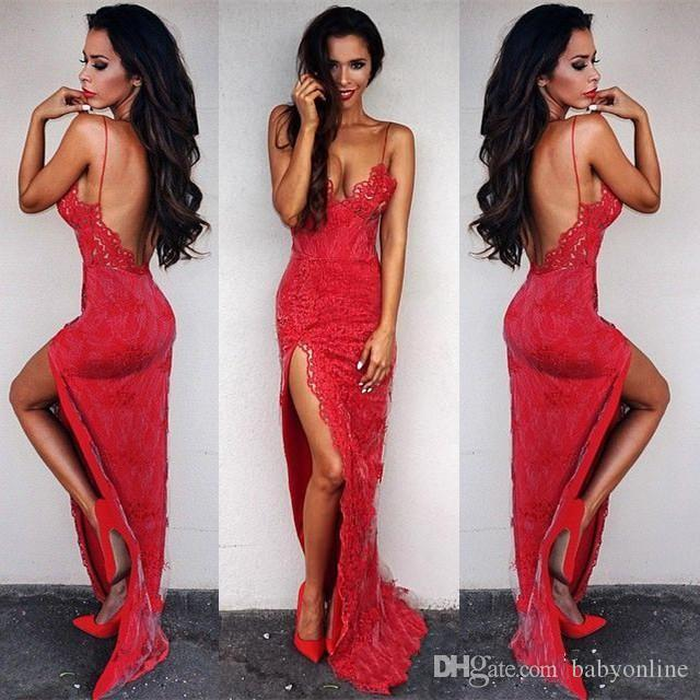 gown Sexy red dress evening