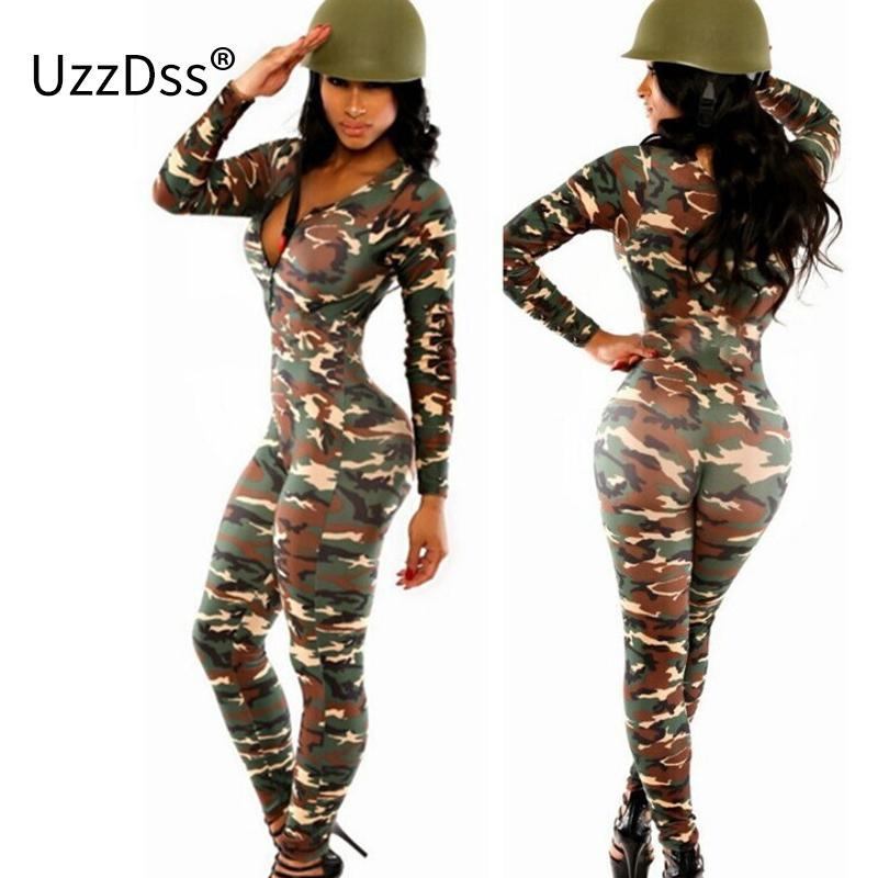 5ec1a11b59ae 2019 Wholesale Long Sleeve Rompers Womens Jumpsuit Army Soldier Catsuit  Camouflage Bodycon Jumpsuit Plus Size Jumpsuits And Rompers Bodysuit From  Cety
