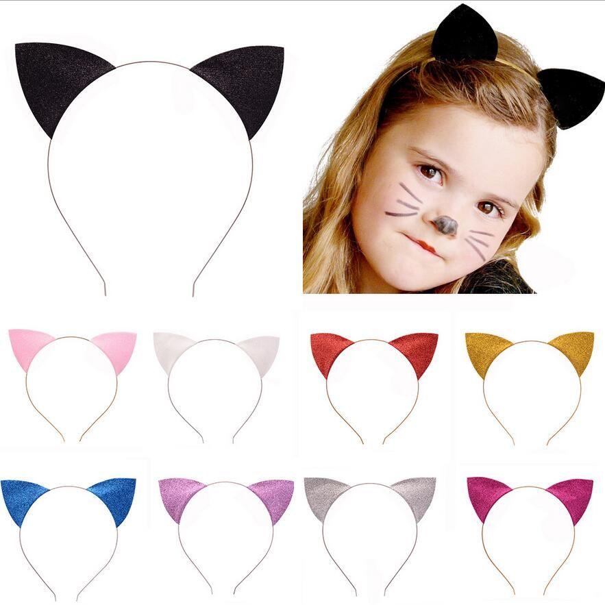 Bambini Moda Cat Orecchie Fasce Ragazze Baby Hair Band Carino Kids Hair Sticks Cosplay Hair Hoop Headdress