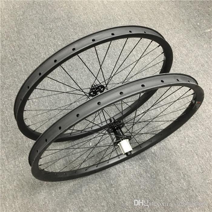 Powerway M81 HUB ile 29er Karbon tekerlek 35mm genişlik dağ bisiklet tubeless jantlar