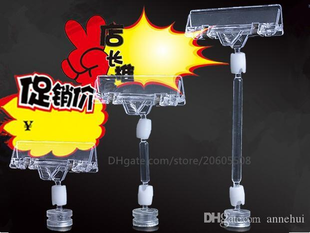 Hot sale Strong magnetic Transparent Plastic pop clamp Sign Paper Memo Card Holder Display POP Promotion Clips label holder