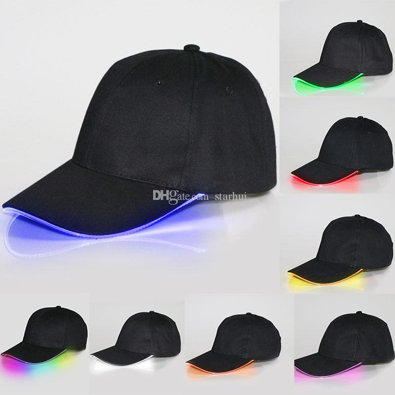 e7049acfc4c99 HOT Baseball Caps Hats LED Luminous Party Fiber Optic Hat Women Men ...