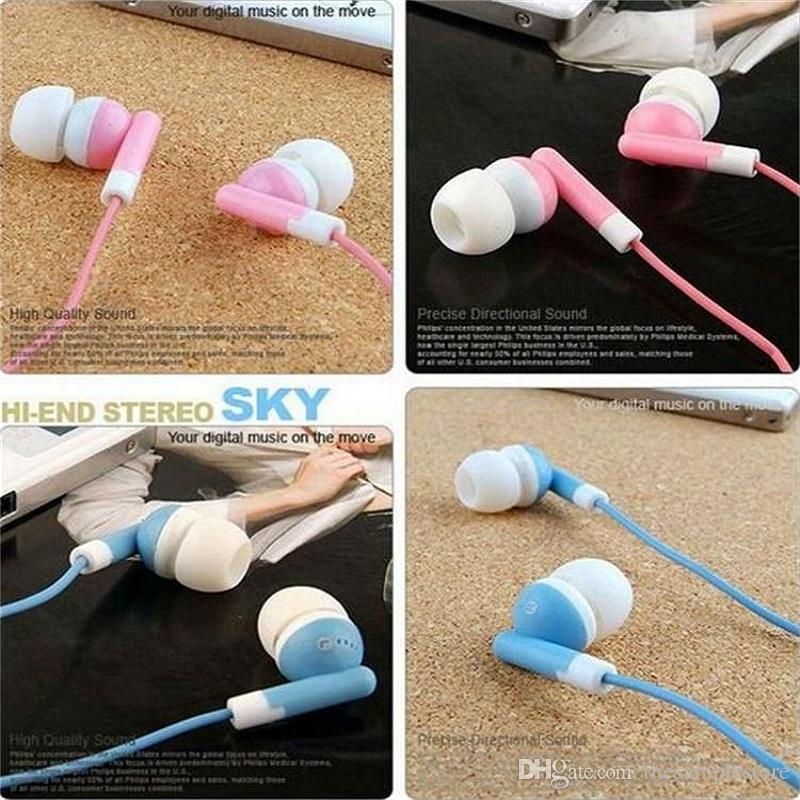 Wholesale Disposable earphones headphones low cost earbuds for Theatre Museum School library,hotel,hospital Gift