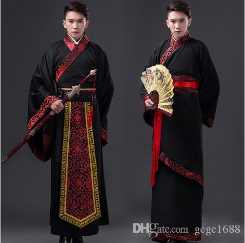 2018 Black Long Robe For Men Chinese Traditional Costume Male Hanfu Captain Clothing National Tang Dynasty Stage Dance Costume 89 From Gege1688 ...  sc 1 st  DHgate.com & 2018 Black Long Robe For Men Chinese Traditional Costume Male Hanfu ...