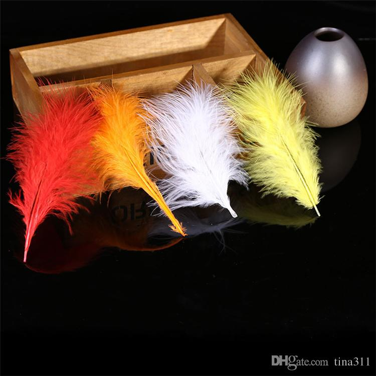 Multi-Color Natural Dyed Goose Feather DIY Hair Accessories Wedding Party Supplies Clothing Decoration CB011