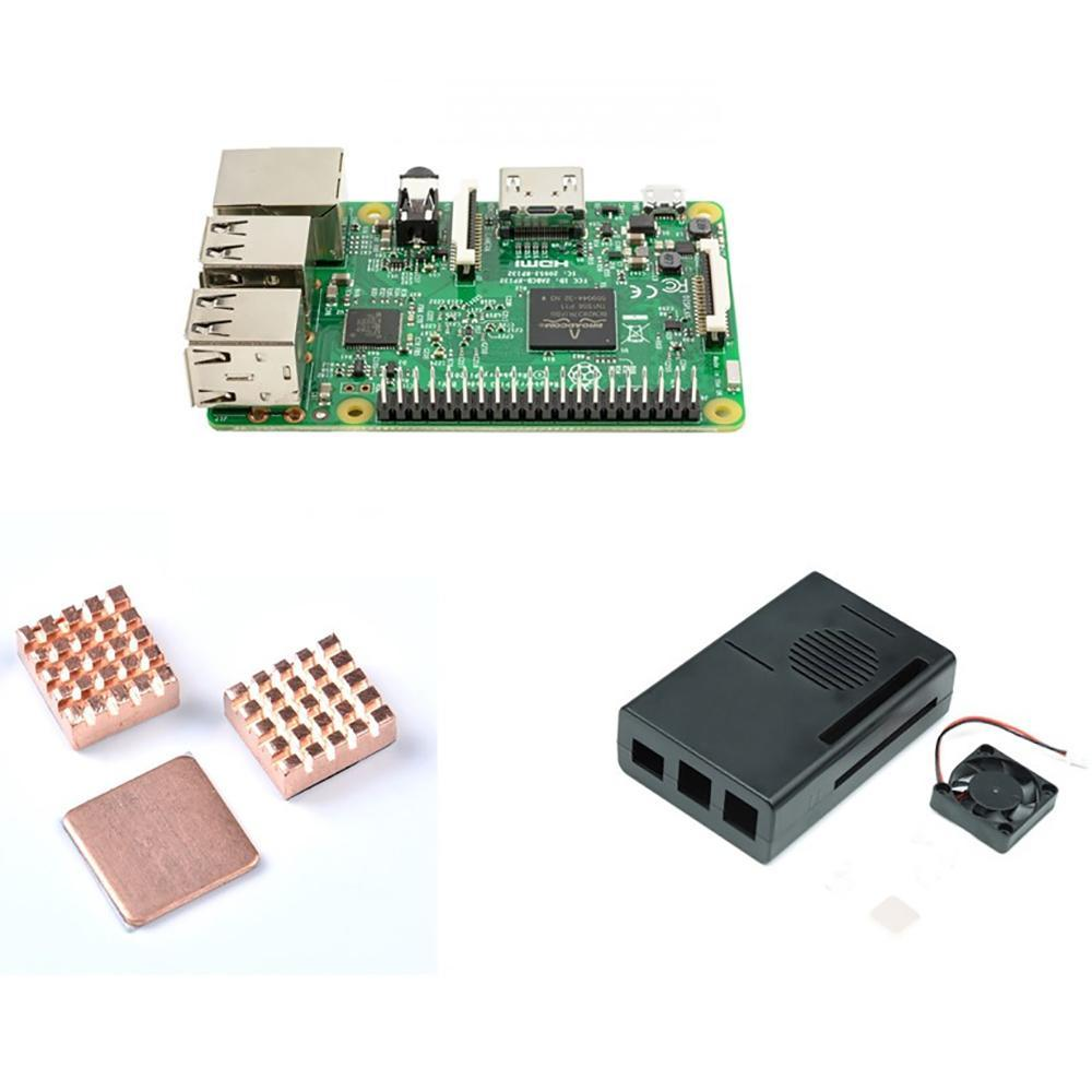 Cooling kit for Raspberry Pi 3 Model B with 1GB RAM and 64 Bit CPU free shipping