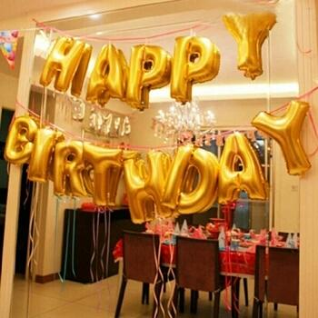 16inch happy birthday balloon letter balloons party decoration inflatable foil balloons globos baloes air balloon balloon festival buy balloons from