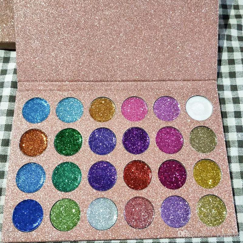 Neue ankunft CLEOF Kosmetik Einhorn Glitter Lidschatten-palette 24 Farben Gedrückt Make-Up CLEOF Lidschatten-palette