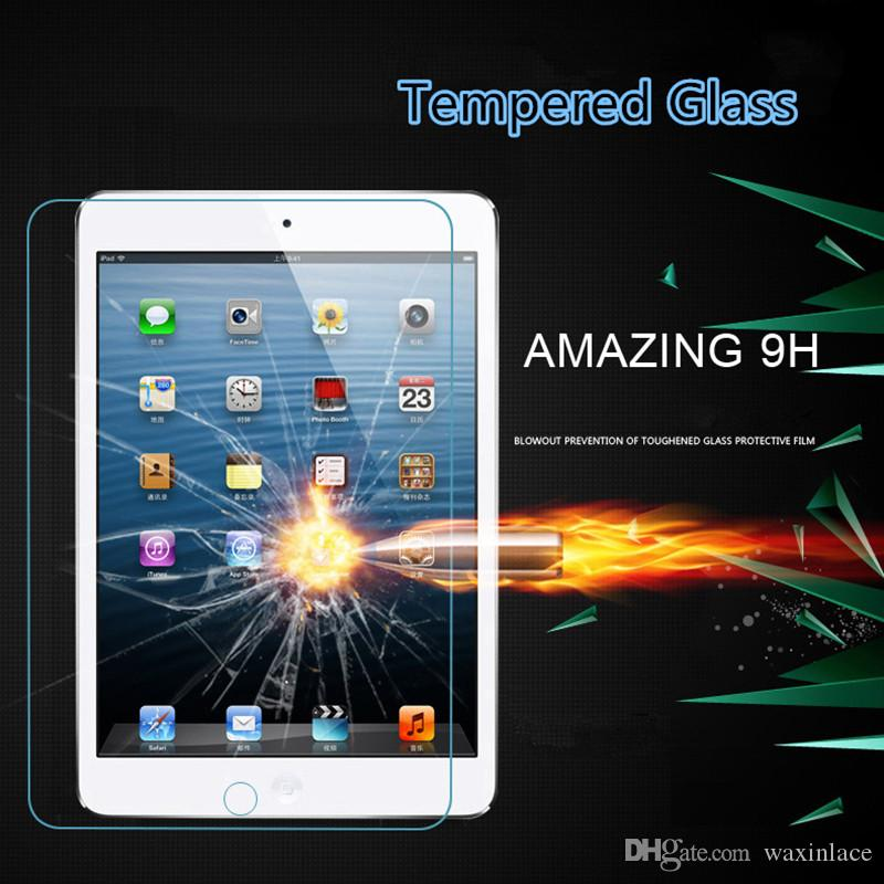 Tempered Reinforced Glass Screen Protector Film For iPad 2 3 4 5 Air Pro 9.7 inch Clear Front Films Toughened Tempered Glass